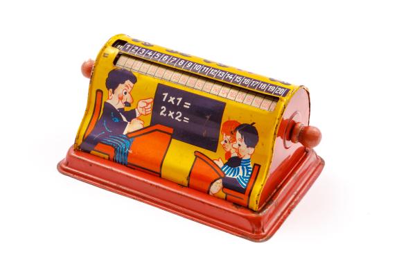 "Calculadora educativa  ""1 x 1= 1″, cilindro multiplicador"