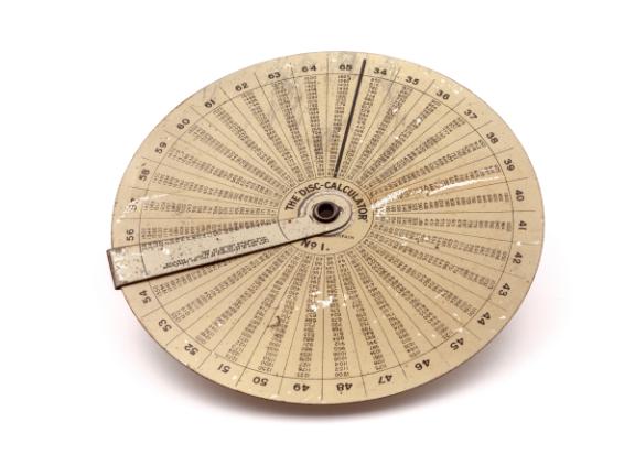 Calculadora multiplicación THE DISC CALCULATOR Nº 1