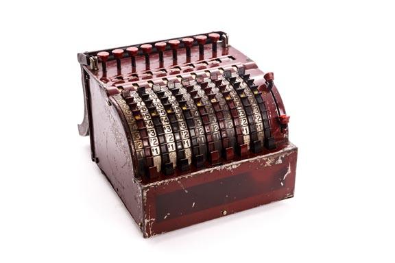 Calculadora mecánica STAR ADDING MACHINE TODD PROTECTOGRAPH