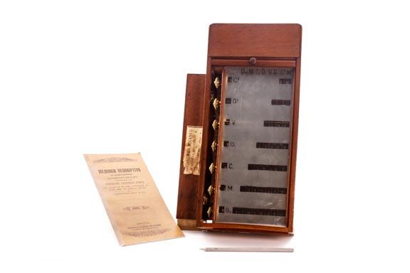 Calculadora manual Aparato Logarítmico-Mecánico